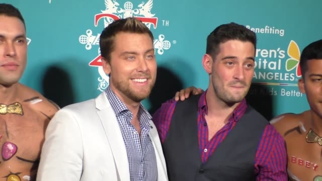 lance bass michael turchin at the abbey food and bar's 11th annual christmas in september at the abbey nightclub in west hollywood in celebrity... - food bar stock videos and b-roll footage
