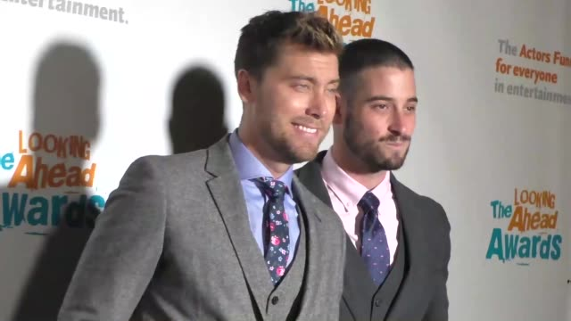 lance bass michael turchin at the actors fund's 2016 looking ahead awards on december 06 2016 in los angeles california - lance bass stock videos and b-roll footage