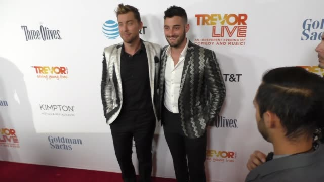 lance bass michael turchin at the trevor project's 2016 trevorlive la at the beverly hilton hotel on december 04 2016 in beverly hills california - lance bass stock videos and b-roll footage