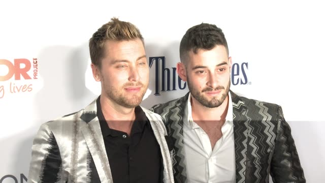 lance bass michael turchin at the trevor project's 2016 trevorlive la in los angeles ca - lance bass stock videos and b-roll footage