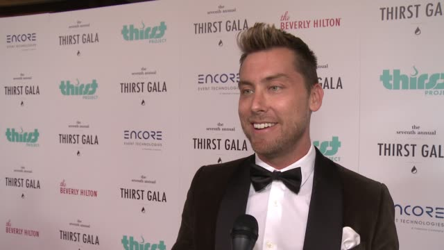 interview lance bass on cohosting this event on how he got involved in this organization at 7th annual thirst gala at the beverly hilton hotel on... - lance bass stock videos and b-roll footage
