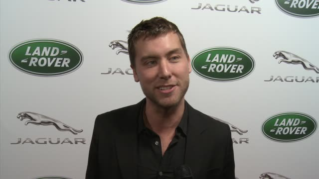 lance bass on the event jaguar and land rover at the jaguar land rover unveil of the new xkrs convertible at beverly hills ca - lance bass stock videos and b-roll footage