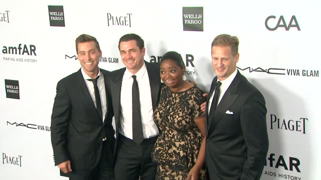 lance bass tate taylor octavia spencer at amfar's inspiration gala los angeles on 8/11/12 in los angeles ca - lance bass stock videos and b-roll footage