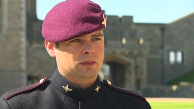 lance corporal josh leakey receives the victoria cross for afghanistan war lance corporal joshua leakey interview sot - the victoria cross stock-videos und b-roll-filmmaterial