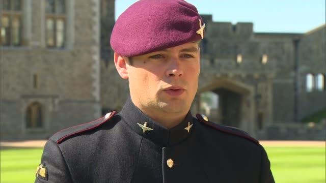 lance corporal josh leakey receives the victoria cross for afghanistan war england berkshire windsor ext ***beware lance corporal joshua leakey... - the victoria cross stock-videos und b-roll-filmmaterial