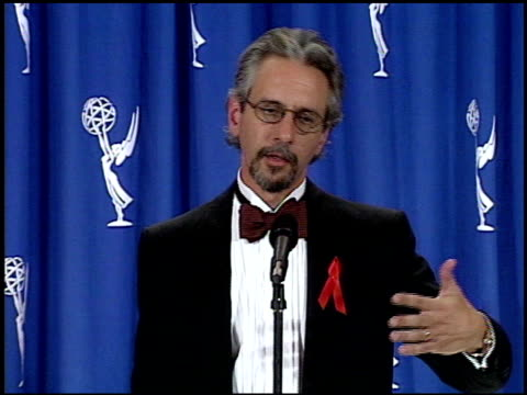 lance genteel at the 1995 emmy awards press room at the pasadena civic auditorium in pasadena california on september 10 1995 - pasadena civic auditorium stock videos & royalty-free footage