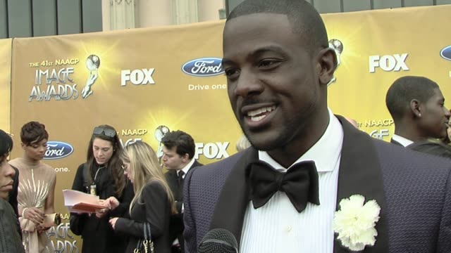 lance gross on his nomination what the image awards mean to him and routing for his fiancé eva marcille who is also a nominee tonight at the 41st... - fiancé stock videos and b-roll footage