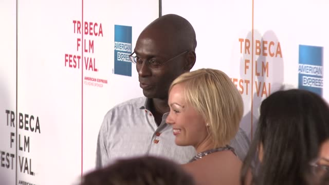 "lance reddick and guest at the 7th annual tribeca film festival - ""tennessee"" premiere at borough of manhattan community college / tribeca performing... - community college stock videos & royalty-free footage"