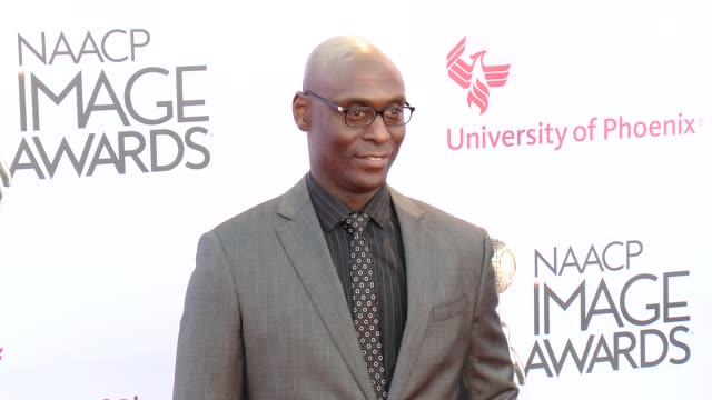 stockvideo's en b-roll-footage met lance reddick at the 46th annual naacp image awards - arrivals at pasadena civic auditorium on february 06, 2015 in pasadena, california. - pasadena civic auditorium