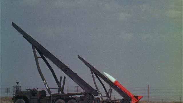 ms land rocket being fired - lenkflugkörper stock-videos und b-roll-filmmaterial