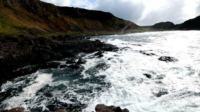 landascapes of ireland. giant's causeway, northern ireland - belfast stock videos & royalty-free footage