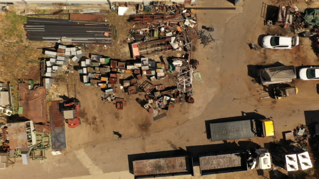 landfill from air - scrap yard stock videos & royalty-free footage