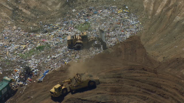 landfill in central valley california - landfill stock videos & royalty-free footage