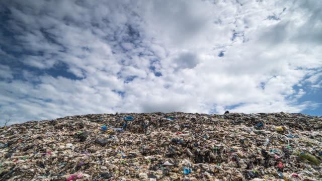 deponien in der natur - plastikmaterial stock-videos und b-roll-filmmaterial
