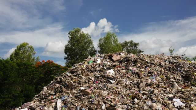 landfill time lapse - garbage disposal stock videos and b-roll footage