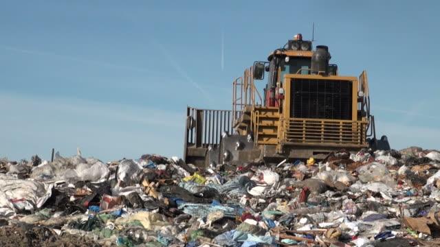 landfill - bulldozer stock videos & royalty-free footage