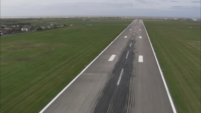 landing at blackpool airport - one mid adult man only stock videos & royalty-free footage