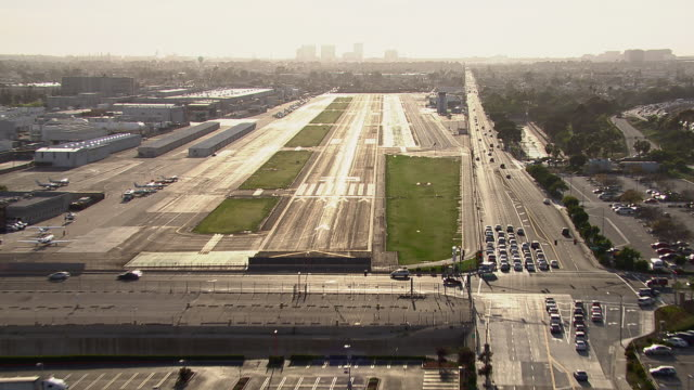 Landing at Hawthorne Municipal Airport in Los Angeles County, California.