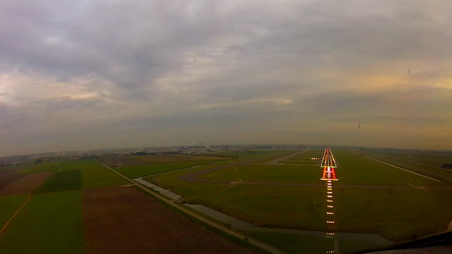 landing cockpitview - runway stock videos and b-roll footage