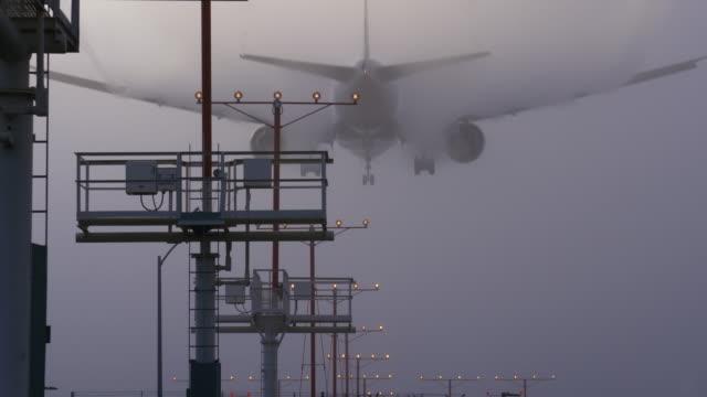 landing in fog - fog stock videos & royalty-free footage