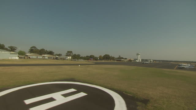 landing view from helicopter, australia - helicopter landing pads stock videos and b-roll footage