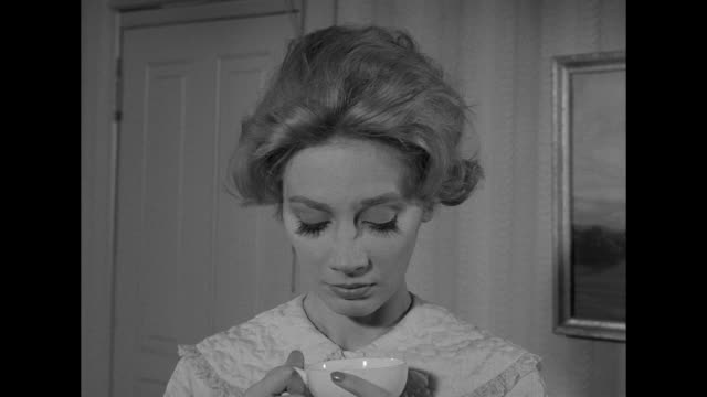 1962 a landlady warns her tenant about the effects of caffeine - caffeine stock videos & royalty-free footage