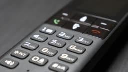 Landline phone with modern design 4K