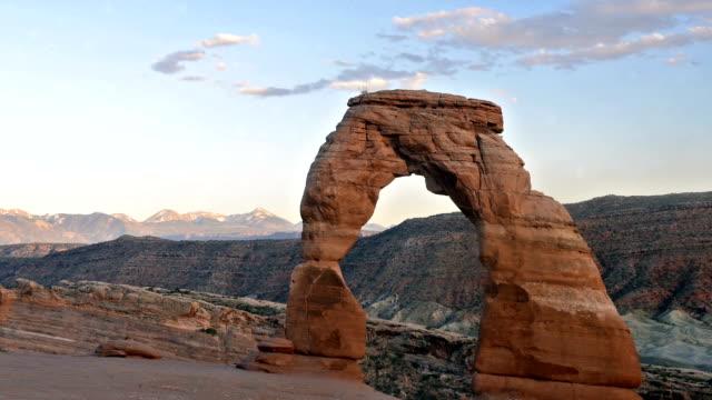ランドマーク ユタ州アーチ砂岩形成アーチーズ国立公園デリケートな風景
