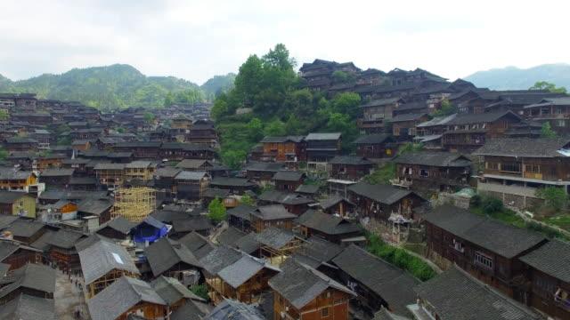 landmark qian hu miao village in xixiang,guizhou 4k