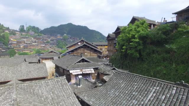 landmark qian hu miao village in xixiang,guizhou 4k - asian tribal culture stock videos and b-roll footage