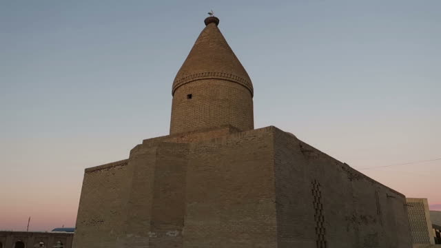 landmarks in bukhara - mausoleum stock videos and b-roll footage