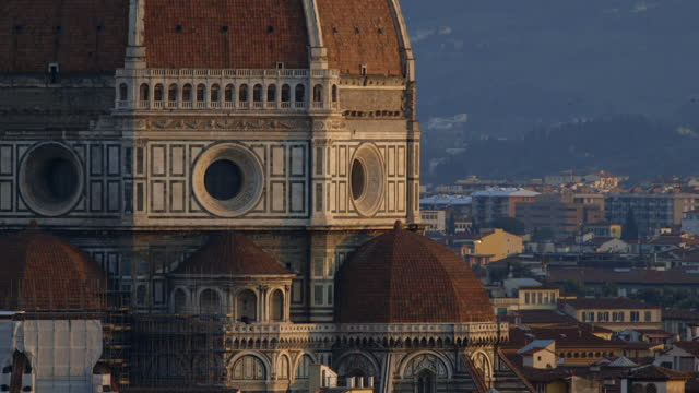 landmarks in florence at golden hour, italy - history stock videos & royalty-free footage
