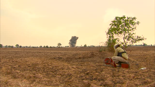 landmine clearance teams in cambodia say they are facing a major new challenge due to a mass movement of people to areas littered with explosives... - cambodia stock videos & royalty-free footage
