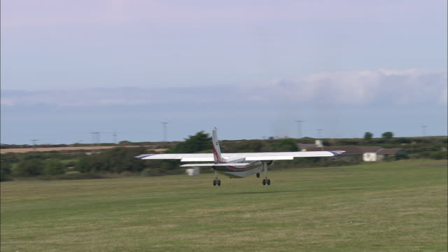 land's end airport and whitesand bay - isles of scilly stock videos & royalty-free footage