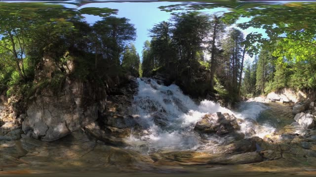 360VR landscape 4k video mountain river