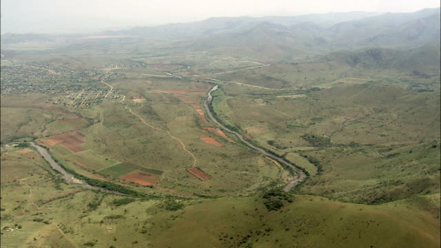 Landscape And Farms Around Tjakastad  - Aerial View - Mpumalanga,  Eastvaal District Municipality,  Albert Luthuli,  South Africa
