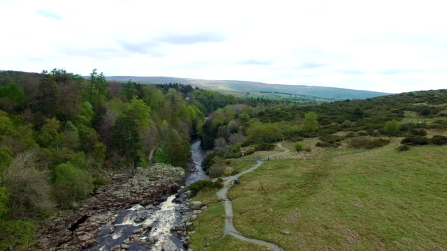 landscape and river - durham england stock-videos und b-roll-filmmaterial