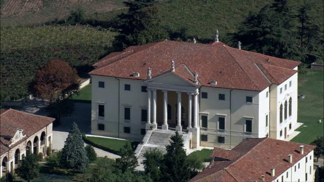 Landschaft und Villen nahe Padua-Luftaufnahme-Veneto, Padua, Abano Terme, Italien