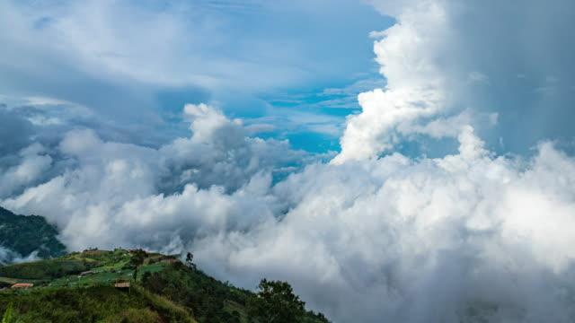 TL/背景の山霧に覆われた風景