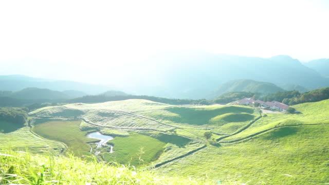 山の中からの風景します。