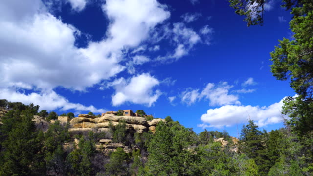 landscape in mesa verde national park, unesco world heritage, colorado, usa, north america, america - mesa verde nationalpark stock-videos und b-roll-filmmaterial