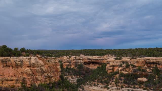 landscape in mesa verde national park - mesa verde national park stock videos & royalty-free footage