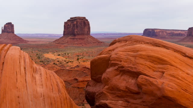 landscape in monument valley, arizona - utah, usa, america - monument valley stock videos & royalty-free footage