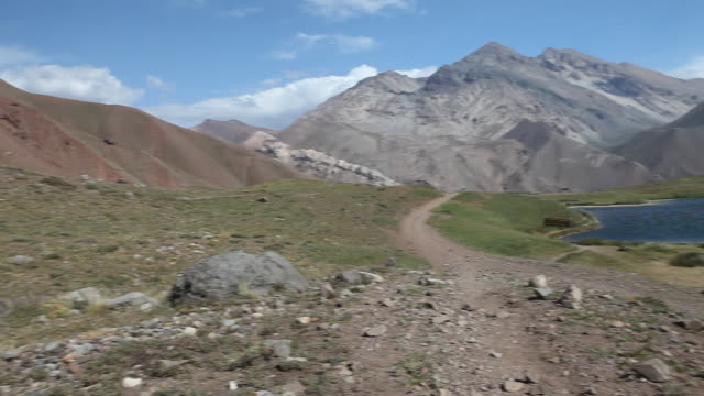 landscape in the andes mountain range in argentina - argentina video stock e b–roll