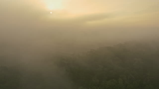 AERIAL Landscape in the fog