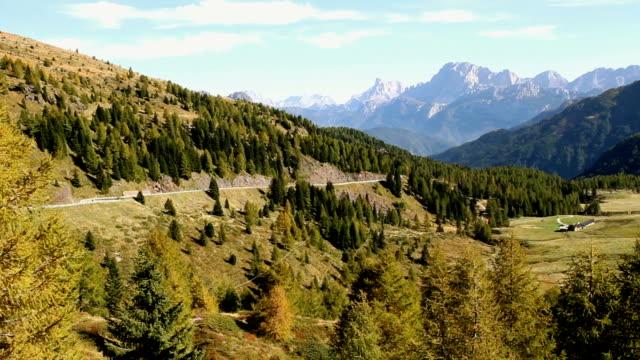 landscape in trentino alto adige, italy. - val di fassa stock videos and b-roll footage