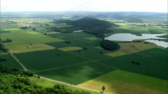 landscape near gotha - aerial view - thuringia,  germany - turingia video stock e b–roll