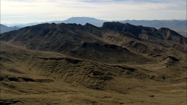 landscape near sky ranch village - aerial view - california,  san bernardino county,  united states - mountain range stock videos & royalty-free footage