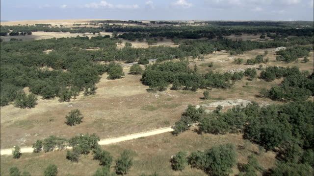 landscape near Toledo - Aerial View - Castille-La Mancha, Toledo, Spain