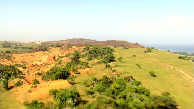 landscape near umtentu  - aerial view - eastern cape,  alfred nzo district municipality,  mbizana,  south africa - railway track stock videos & royalty-free footage